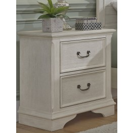 Bayside Youth White 2 Drawer Nightstand