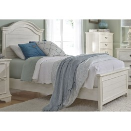 Bayside Youth White Full Panel Bed