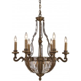 Millwood Antique Bronze 10 Light Chandelier