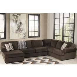 Jessa Place Chocolate Left Arm Facing Sectional