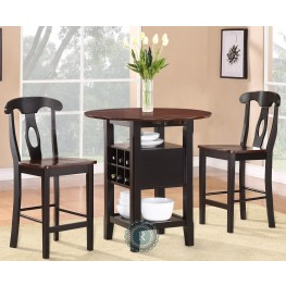 Atwood 3-Piece Pack Extendable Counter Height Set