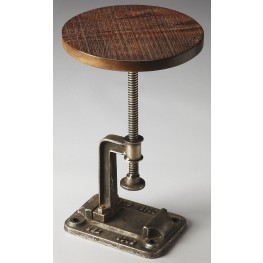Ellis Industrial Chic Metalworks Accent Table