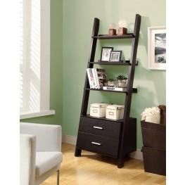 """2542 Cappuccino 69"""" Ladder Bookcase"""