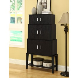 2547 Cappuccino Stacking Style Storage Cabinet