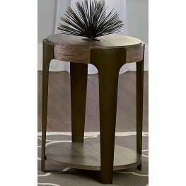 Sapphire Lakes Bark Round End Table