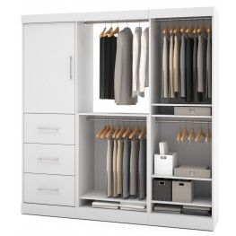 Nebula White 80'' Storage Wardrobe