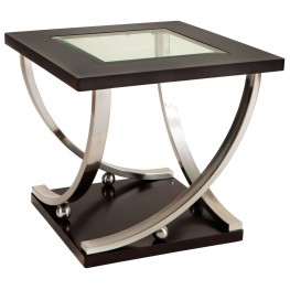 Melrose Dark Merlot End Table