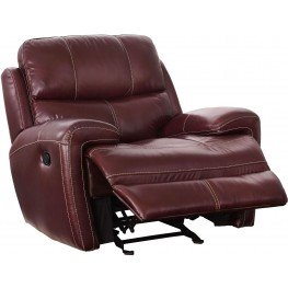 Boulevard Burgundy Power Glider Recliner