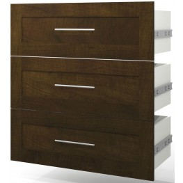 "Pur Chocolate 3 Drawer Set For 36"" Storage Unit"
