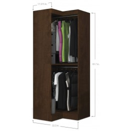 Pur Chocolate Open Corner Wardrobe