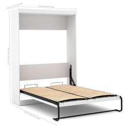 Pure White Full Wall Bed