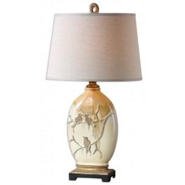 Pajaro Aged Ivory Lamp