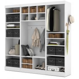 """Pure White 86"""" Open Storage Mudroom Set"""