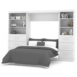 "26890 Pure White 120"" Drawer Full Wall Bed"