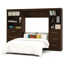 "Pur Chocolate 120"" Drawer Full Wall Bed"