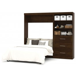 "Pur Chocolate 95"" Drawer Full Wall Bed"