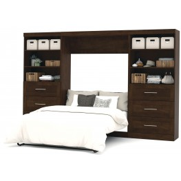 "Pur Chocolate 131"" Drawer Full Wall Bed"