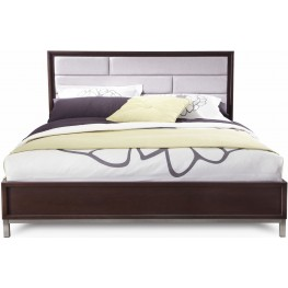 Sandrine Brown Upholstered King Panel Bed