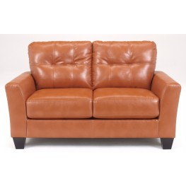 Paulie DuraBlend Orange Loveseat