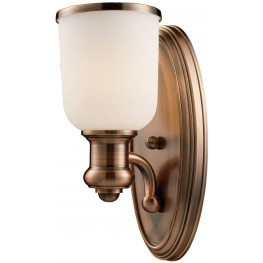 Brooksdale Antique Copper 1 Light Sconce