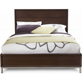 Sandrine Brown King Panel Bed