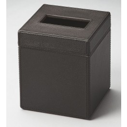 2734034 Lido Hors D'Oeuvres Black Leather Tissue Box