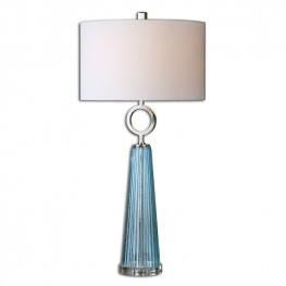 Navier Blue Glass Table Lamp