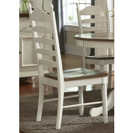 Springfield Honey & Cream Ladder Back Side Chair Set of 2