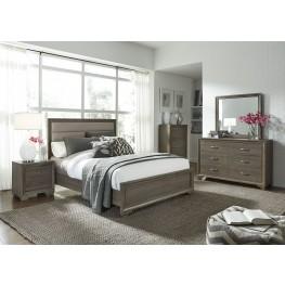 Hartly Gray Wash Upholstered Panel Bedroom Set