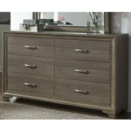 Hartly Gray Wash 6 Drawer Dresser