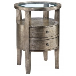Round Accent Table in Finish