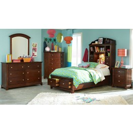 Impressions Storage Bookcase Bedroom Set