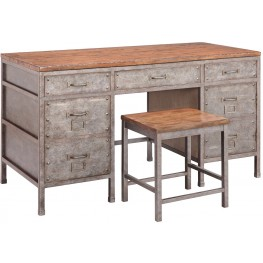 Brownstone Metallic Home Office Set