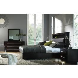 Manola Coffee Bookcase Bedroom Set