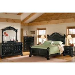 Heirloom Black Poster Bedroom Set