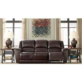 Yancy Walnut Power Reclining Sofa