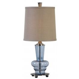 Aubin Blue Glass Buffet Lamp