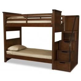 Dawsons Ridge Full over Full Bunk Bed with Storage Steps