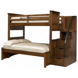 Dawsons Ridge Twin over Full Bunk Bed with Storage Steps