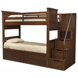 Dawsons Ridge Twin over Twin Bunk Bed with Storage Steps