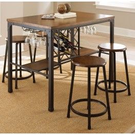 Rebecca Durable Handpainted Metal Counter Dining Room Set