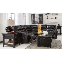 Manzanola Black Sectional