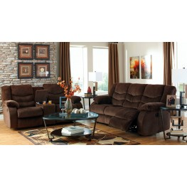 Garek Cocoa Reclining Living Room Set