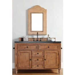 "Copper Cove 48"" Driftwood Patina Single Vanity With 4Cm Santa Cecilia Granite Top"