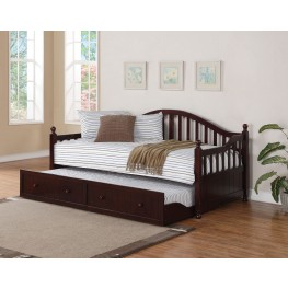 300090 Brown Curved Back Daybed