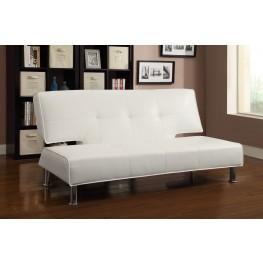 300296 White Sofa Bed
