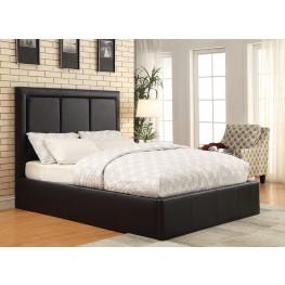 Jacobsen Black Queen Platform Bed