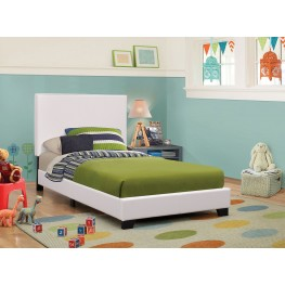Mauve White Full Platform Bed