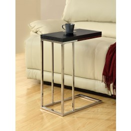 3007 Cappuccino / Chrome Accent Table