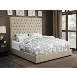 Camille Cream King Platform Bed